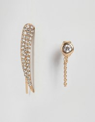 Aldo Bordwell Ear Cuff And Stud Earrings Gold