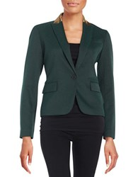 Anne Klein Textured Blazer Green
