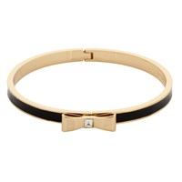 Kate Spade New York Glass And Enamel Hinged Bow Bangle Black Gold