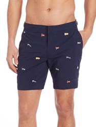 Polo Ralph Lauren Flag Embroidered Shorts Navy