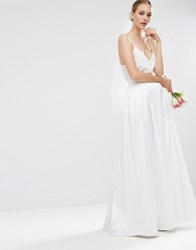 Asos Bridal Maxi Prom Skirt Cream