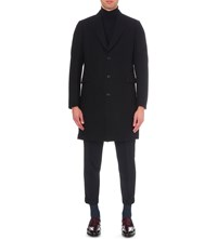 Paul Smith Single Breasted Wool Coat Navy 2