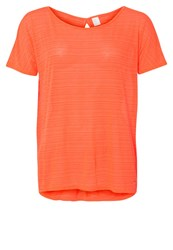 Gap Air Basic Tshirt Neon Dark Orange