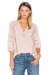 House Of Harlow X Revolve Sophie V Neck Blouse Taupe