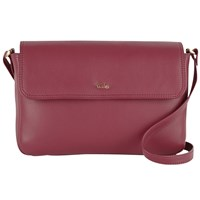 Tula Nappa Originals Small Flap Over Across Body Bag Burgundy