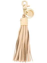 See By Chloe Tassel Keyring Nude And Neutrals