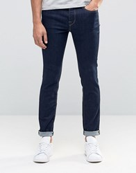 Selected Homme Indigo Skinny Jean In Super Stretch Dark Blue