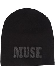 Warm Me Muse Embellished Beanie Black