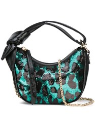 Borbonese Leopard Print Shoulder Bag Green