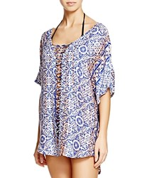 Gypsy05 Gypsy 05 Printed Dolman Sleeve Tunic Swim Cover Up