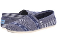 Toms Woven Classics Blue Tribal Woven Men's Slip On Shoes