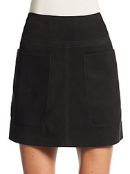 Burberry Suede Mini Skirt Black