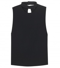 Tom Ford Cut Out Crepe Top Black