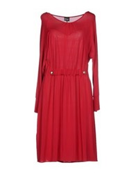 Pf Paola Frani Knee Length Dresses Red
