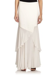 Haute Hippie Fit And Flare Maxi Skirt Swan