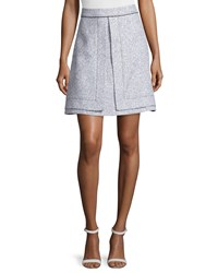 Proenza Schouler A Line Tweed Suiting Skirt Black White