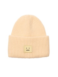 Acne Studios Pansy Ribbed Knit Wool Beanie
