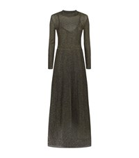 M Missoni Lurex Long Sleeve Maxi Dress Female Gold