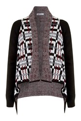 Check Waterfall Cardigan By Wal G Wine
