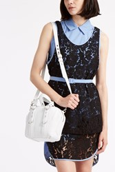 Msgm Layered Lace Dress Blue