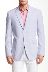 U.S. Polo Assn. Blue Stripe Two Button Notch Lapel Modern Fit Blazer
