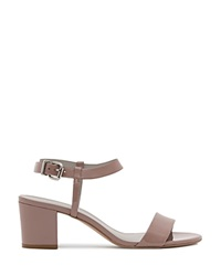 Reiss Sandals Vivi Block Heel Rose