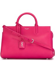 Saint Laurent Small 'Rive Gauche' Tote Pink And Purple