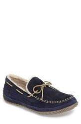 Sorel Men's Maddox Faux Fleece Moccasin Nocturnal Blue