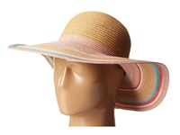 Bcbgeneration Mixed Stripe Floppy Lena Pink Traditional Hats Beige