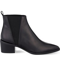 Whistles Belmont Pointed Toe Leather Chelsea Boots Black