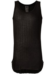 Ann Demeulemeester Scoop Neck Tank Top Black