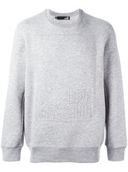 Love Moschino Logo Sweatshirt Grey
