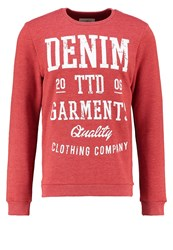 Tom Tailor Denim Basic Fit Sweatshirt Burned Red Slate