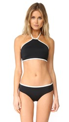 Kate Spade Plage Du Midi High Neck Bikini Top Black