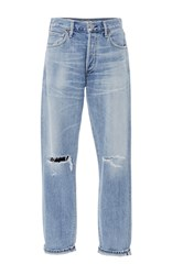 Citizens Of Humanity Liya High Rise Distressed Classic Fit Jeans Light Wash