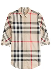 Burberry Brit Printed Cotton Shirt Multicolor