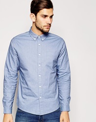Asos Oxford Shirt In Sky Blue With Long Sleeves