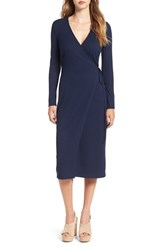 Astr Women's Rib Knit Wrap Dress