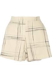 Vivienne Westwood Terrain Checked Wool Blend Shorts