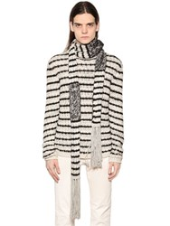 John Varvatos Stripe Knit Scarf