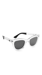 Wonderland Colony Sunglasses Clear Gloss Black Grey