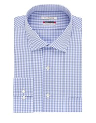 Van Heusen Checked Flex Collar Dress Shirt Blue