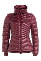 Blauer Wave Quilted Down Jacket Red