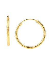 Diane Von Furstenberg Twig And Links Small Snakechain Hoops 1 In. Gold