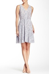 Rebecca Taylor Sleeveless Summer Rain Silk Dress Gray