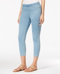 Styleandco. Style And Co. Knit Denim Capri Pants Only At Macy's Light Wash