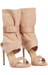Paul Andrew Leather And Suede Open Toe Boots