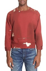 Levi's Men's Vintage Clothing 'Still Crew' Ripped And Repaired Sweatshirt