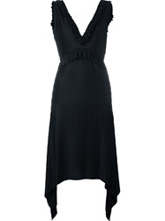 Givenchy Pleated Sleeveless Dress Black