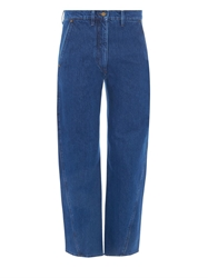 Lemaire Cropped Cotton Denim Jeans